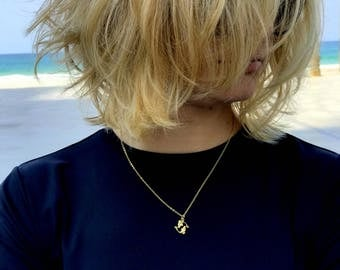 Pisces Necklace Pisces zodiac necklace gold Pisces sign necklace women delicate necklace dainty necklace constellation necklace
