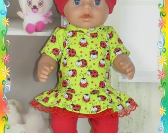 Doll clothes for Baby Born 3 Pcs.