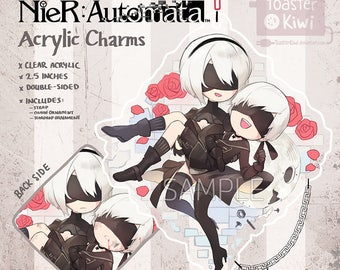 Nier: Automata Charms 2.5inch Double-sided Clear Acrylic