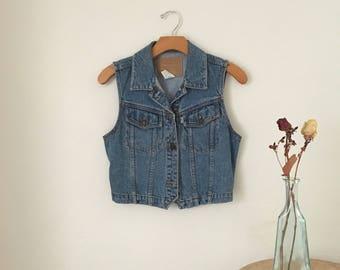 Levi's Denim Vest || Vintage Jean Vest || Womens Denim Vest ||