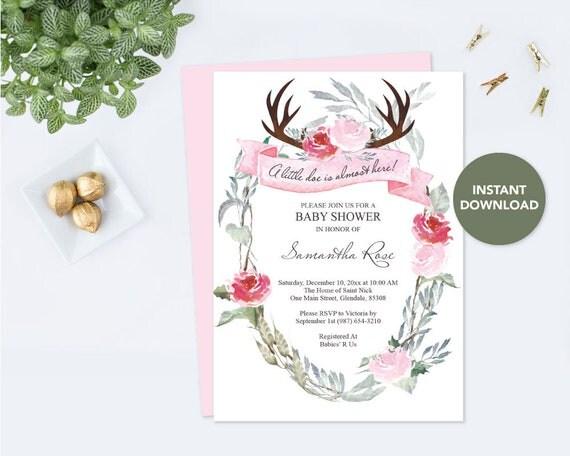 Baby shower invitation girl woodland baby shower invitation il570xn filmwisefo