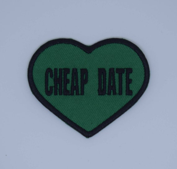 Cheap Date Heart Slogan Iron on Patch