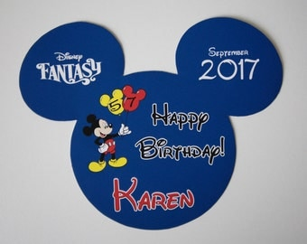 Disney Cruise Line - Happy Birthday Mickey Magnet