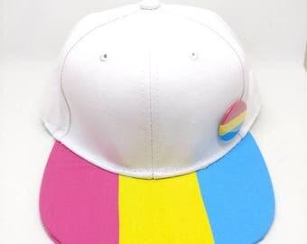Pansexual Pride Flag Snapback Hat - LGBTQA+ Pansexuality Pan Pride Hat Pride Parade Pride Festival Pansexual Hat Pansexual Flag Love Wins