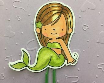 Little Mermaid - Ariel - Planner Paper Clip - Altered Paper Clip - Bookmark - Planner Accessory - Planner Clip Set