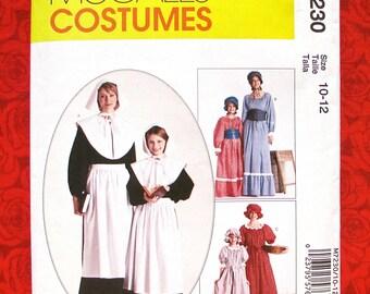 McCallu0027s Sewing Pattern M7230 Colonial Pilgrim Pioneer Costumes Dresses Apron Bonnet Mob  sc 1 st  Etsy & Simplicity Costume Sewing Pattern 3723 Colonial Pilgrim
