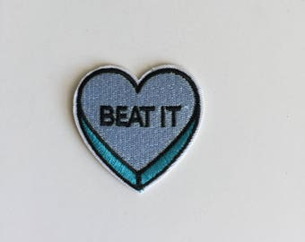 Candy HeartBeat it Iron on patch