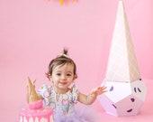 Toddler Leotard, Ice Cream Leotard, Baby Girl Birthday Outfit, Ice Cream Party, Baby Girl Clothes, Gymnastics Leotard, Dance Leotard
