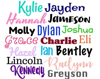 Vinyl Name Decal / Any Name Decal / Any Word Decal / Custom Name Decal / Name Decal / Name Label / Diy Monogram / Tumbler Name Decal
