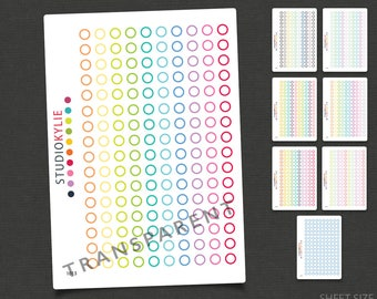 Transparent Circles - Planner Stickers - Repositionable Vinyl To suit most planners