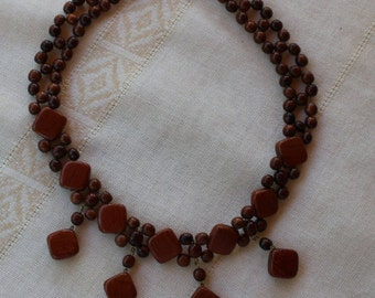 wooden choker necklaces