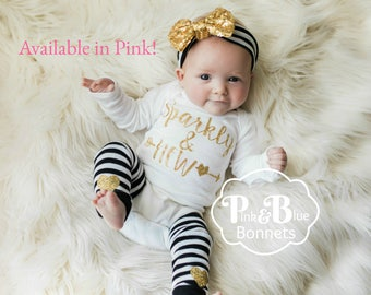 Baby Girl Clothes, Newborn Hat, Baby Clothes, Newborn Girl Clothes, Pink Baby Outfit, Baby girl Outfit, Newborn Hospital Outfit, Baby Hat