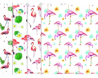 Flamingo Digital Paper, Summer Vacation, Florida Flamingo Backgrounds, Stripes, Commercial Use