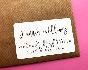 Personalised Return Address Label, Return Address Sticker, Calligraphy Address Label, Business Address Label, Letters and Gift Wrapping