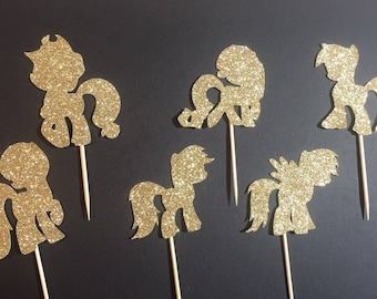 My Little Pony, cupcake topper, cake decorations, little girl party, special day, unique party ideas, party decor, fun party ideas, glitter