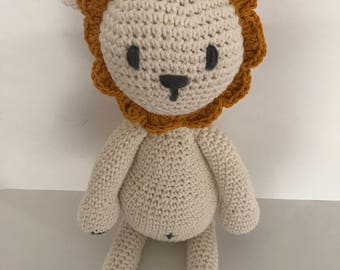 Handmade toy lion, amigurumi lion, crochet lion, kids deco, nursery deco