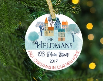 Our First Home Ornament, First Christmas New House Gift, Housewarming Gift, Realtor Gift, Personalized Home Ornament, Christmas Ornament