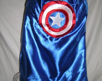 American Hero Superhero cape, captain america, shield, Handmade cape, Christmas gift, birthday present, costume piece, dress up, adults too
