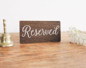 Wedding Reserved Sign, Rustic Wooden Wedding Signs, Wooden Table Sign, Wedding Decor. Boho Wedding.