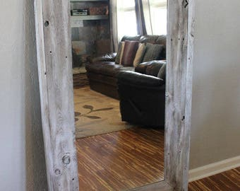 rustic home decor reclaimed wood mirror mirror floor mirror wood mirror - Reclaimed Wood Mirror