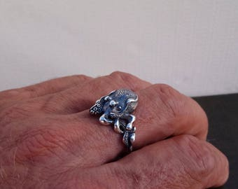 Small Octopus Ring 2 Statement ring, Free shipping
