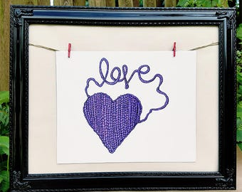 Wall Art - Art Print - Gift for her - Knitting - Best Friend Gift - Digital download - Home decor - 8 x 10 print