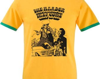 The Harder They Come Ringer T-shirt - Jimmy Cliff, All Sizes/Various Colours