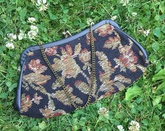 Vintage Carpet Bag Clutch