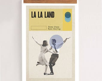 "LA LA LAND, Original Art, Minimalist Movie Poster Print 24 x 36"""