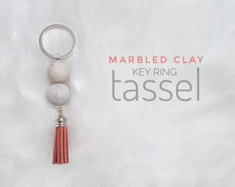 Clay keyring tassel chain
