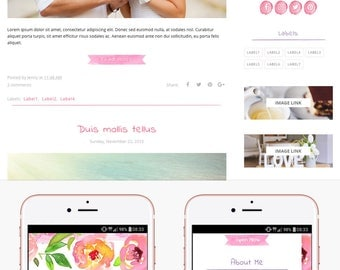 Blogger Template Responsive, Blogger Theme, Premade Blogger Templates, Blogger Template Minimal, Blogger Blog, Blogspot - Hand Painted