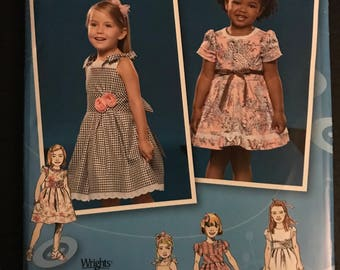 Simplicity 2460 - Project Runway Little Girl's Party Dress with Shaped Midriff and Bubble Hem Option - Size 4 5 6 7 8