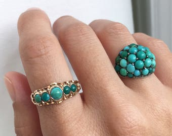 Vintage Turquoise Cabochon Ring
