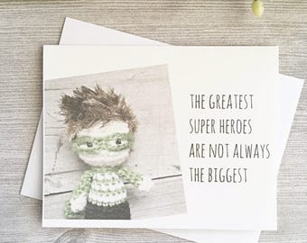 Super Hero Birthday Card -  Kids with Cancer - Father's Day - Childhood Cancer Survivor - Support Card - Get Well Card