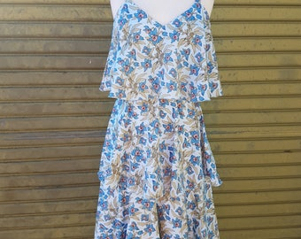 Floral tiered dress 1960's
