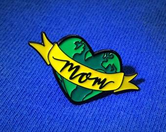 mother earth enamel pin