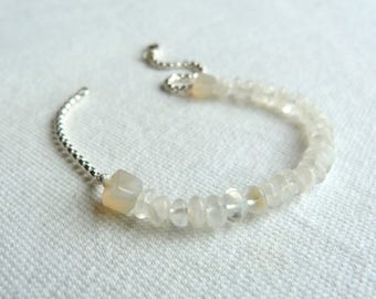 Bracelet Silver 925 and white stones