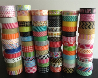 WS1:  Washi Tape Samples, 24 Inches, Over 80+ Samples to Choose From, Scrapbooking, Cardmaking, Planner Decorations