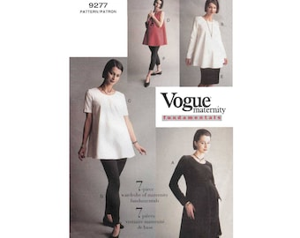 Women's Maternity Sewing Pattern, Dress, Tunic, Skirt and Leggings, Misses Size 6-8-10 UNCUT Vogue 9277