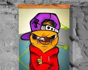 Graffiti Trotzkopf fine art print poster matt 60 x 90