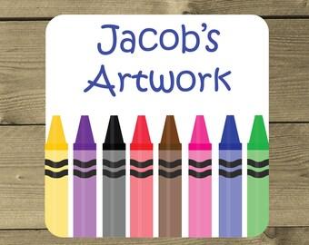 Personalised Artwork Magnet, Kids Drawing Magnet, Kids Fridge Magnet, Children's Art, UK