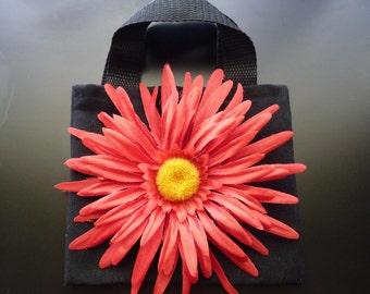 Black & Red little girl purse. Flower girl purse. ~Flower girl basket alternative~