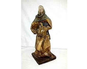 Vintage Mexican Folk Art Figurine,Paper Mache Figurine,EB M.R.Mexican Paper Mache,EB,Hecho,Mexico,Mexican Folk Art, Paper Mache Man,Folk Art
