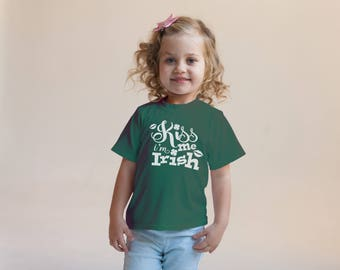 Kiss Me I'm Irish Green Rabbit Skins 2T 3T 4T Shirt Toddler Kid T Shirt Top Tee T-Shirt Funny St. Patrick's Day Leprechaun