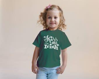 Kiss Me I'm Irish Green Rabbit Skins 2T 3T 4T Shirt Toddler Kid T Shirt Top Tee T-Shirt Funny St. Patrick's Day Leprechaun