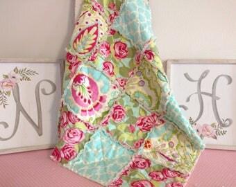 """28""""x 28"""" Baby/Lovey Rag Quilt/Blanket/Handmade"""