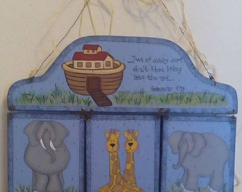 Noah's Ark, two by two, wall/door hanger