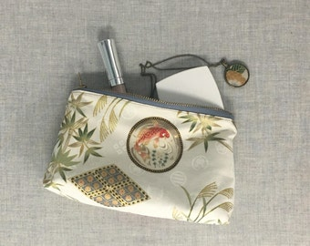 Small Zipper Pouch | Bridesmaid Proposal Gift Ideas | Purse Organizer | Makeup Bag | Chinoiserie Asian |Step Daughter Gift Idea for Her