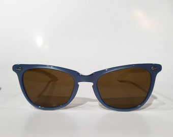 60s NOS American Optical Vintage Sunglasses, New Old Stock American Optical Periwinkle Blue Sunglasses, AO Blue Cosmetan Sunglass Frames
