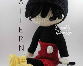 Mickey - Amigurumi Doll Crochet Pattern PDF
